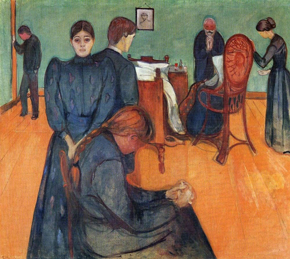 "Edvard Munch ~ ""Death in the sickroom"", 1893 (Munch Museum, Oslo, Norway)"