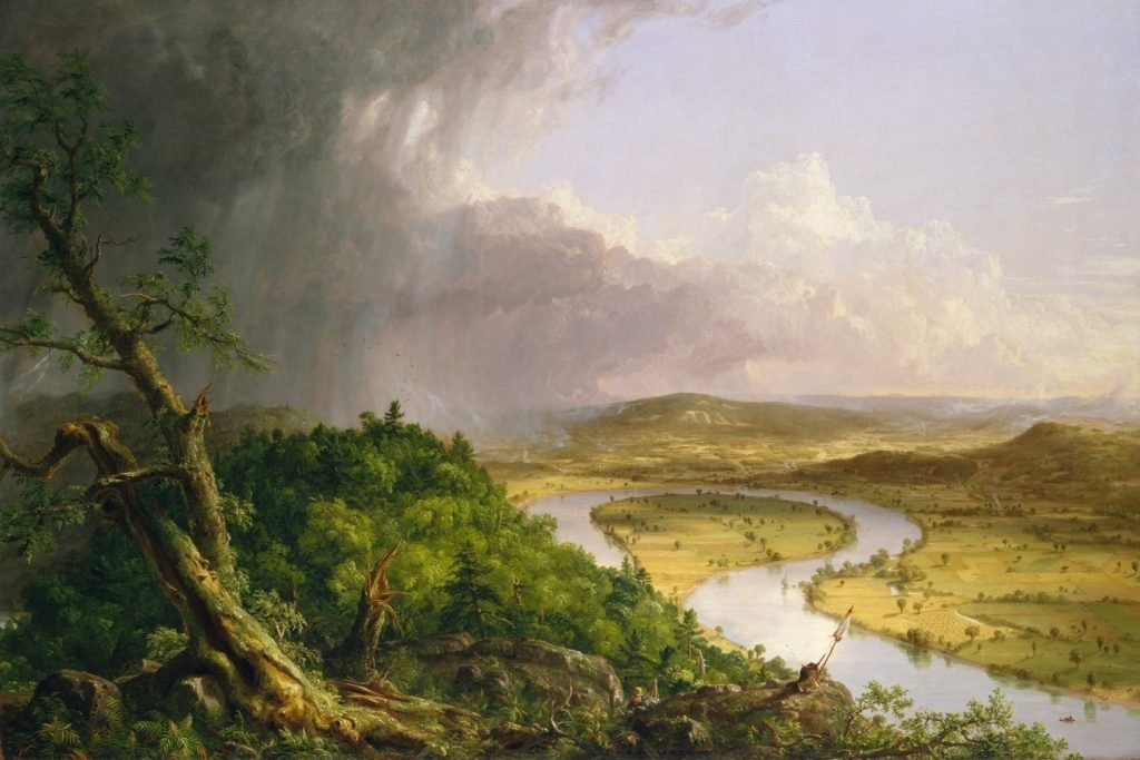 Thomas Cole (1801–1848) ~ The Oxbow, View from Mount Holyoke, Northampton, Massachusetts, after a Thunderstorm (1836), The Metropolitan Museum of Art, New Yok, U.S.A.
